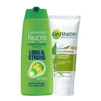 Garnier Face Wash + Shampoo Combo