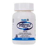 Healthvit Omega 3 Fatty Acids Oil - 60 Softgel Capsules