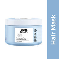 Nykaa Naturals Fermented Rice Water & Bamboo Paraben & Sulphate Free Hair Mask - Dry & Damaged Hair