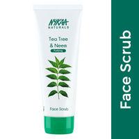 Nykaa Naturals Tea Tree & Neem Face Scrub for Purified Skin