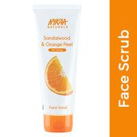 Nykaa Naturals Sandalwood & Orange Peel Face Scrub for Tan Removal