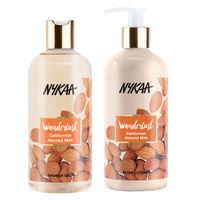 Nykaa Californian Almond Milk Shower Gel + Body Lotion Combo