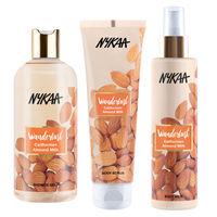 Nykaa Wanderlust Californian Almond Milk Body Milk + Body Scrub + Shower Gel