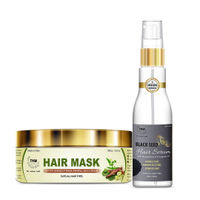 TNW The Natural Wash Amla Hair Mask For Dry and Damaged Hair with Black Seed Hair Serum