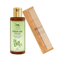 TNW The Natural Wash Neem Combo With Neem Oil & Neem Wood Comb For Complete Hair Protection
