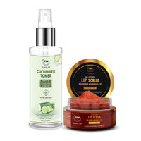 TNW The Natural Wash Lip Scrub For Tanned Lips & Cucumber Toner For Face Cleansing & Refreshing Face