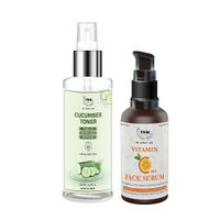 TNW The Natural Wash Cucumber Toner & Vitamin C Face Serum For Cleansing And Refreshing