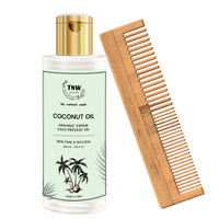 TNW The Natural Wash Virgin Coconut Oil With Neem Wood Comb