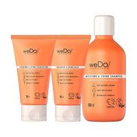 weDo Professional Moisture & Shine Regime For Dull Hair, Anti Frizz - Shampoo, Conditioner, Mask