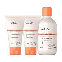 weDo Professional Rich & Repair Regime For Damaged Hair, Anti Frizz - Shampoo, Conditioner, Mask