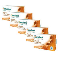 Himalaya Moisturizing Almond & Rose Soap - Pack of 5
