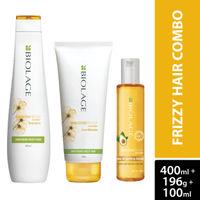 Matrix Biolage Frizz-free Hair Regime with Smoothproof Shampoo 400ml, Conditioner 196g & Serum 100ml