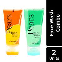 Pears Pure & Gentle Ultra Mild Facewash + Ultra Mild Facewash - Oil Clear Glow