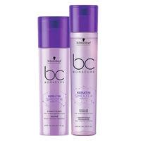 Schwarzkopf Professional Bonacure Keratin Smooth Perfect Conditioner + Micellar Shampoo