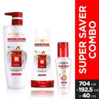 L'Oreal Paris Total Repair 5 Shampoo 704ml With Conditioner And Serum 192.5ml