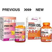 StBotanica Fish Oil 1000mg Double Strength 650mg Omega 3 with 330mg EPA, 220mg DHA