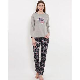 33b577745fe Sweet Dreams Women Full Sleeve T-Shirt   Pyjama Set - Multi-.
