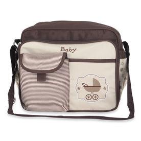 NFI Essentials Newborn Baby Diaper Changing Brown Mother Bag