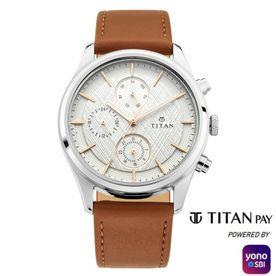 Titan 1805SL03Silver Dial Analog Watch For Men