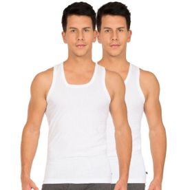 Jockey White Modern Vest Pack of 2