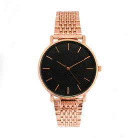 Active Ladies Watch By Elizabeth Rose Gold Tone Oriental Floral Style Dial Grey Strap Watches, Parts & Accessories