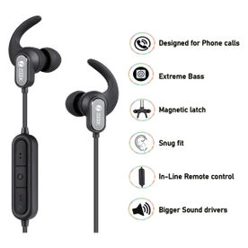 Zoook Upbeat Sports Wireless Bluetooth headphones with built...