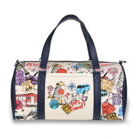 9486a351f Thathing Multicolor Bucket List Doodle Spacious Duffel Bag