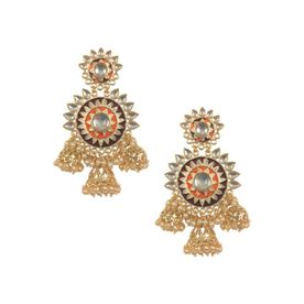 e11899abe August Line Maroon & Silver Chandbali Earrings at Nykaa.com
