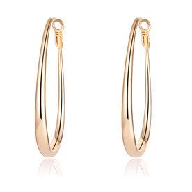 d35cbf7ec Out of Stock. Jewels Galaxy Gold-Plated Teardrop-Shaped Hoop Earrings