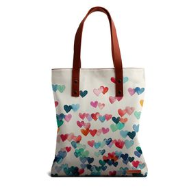 49a711a5184 DailyObjects Heart Connections Tote Bag