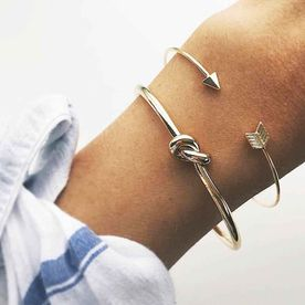 9f506f2d557 Ferosh Knot Arrow Cuff Set