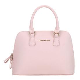 6b9bcc0f36dee Lino Perros Pink Faux Leather Handbag