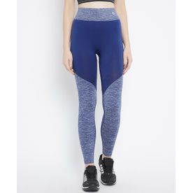 e8a0e55d87edfd C9 Airwear Women Solid Monaco Blue Ankle Length Legging With Melange  Structure