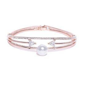 0ee462d9e17 Jewels Galaxy Exclusive Elegant Arrow Design Pearl And CZ 18.