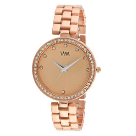 Active Ladies Watch By Elizabeth Rose Gold Tone Oriental Floral Style Dial Grey Strap Wristwatches Jewellery & Watches