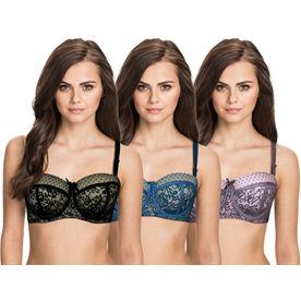 601da9043fa Susie by Shyaway Women s Lace Overlay Balconette Demi Covera.