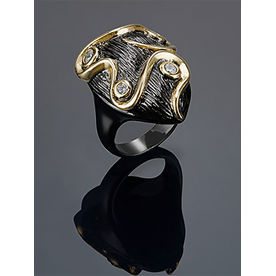 6cc45b60e Shaze Black Colored Ocean Delight Ring