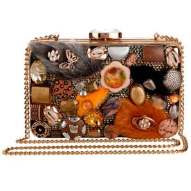 85a5b16fe45b Vdesi Multicolor Embellished Clutch