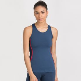 30313eb3873 Zivame Zelocity Luxe Training Fitted Tank Top- Dark Blue