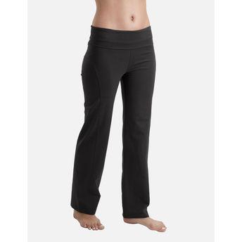 1dbb52a2a21a2 Proyog Women's Organic Yoga Foldover Waist Pants - India Ink Black ...
