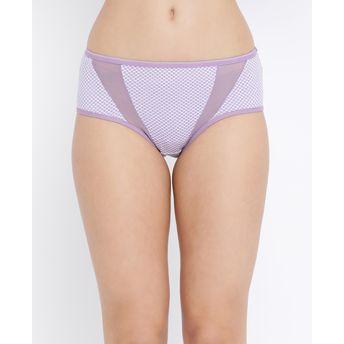09917283c65b Clovia Cotton Mid Waist Printed Hipster Panty - Purple at Nykaa.com