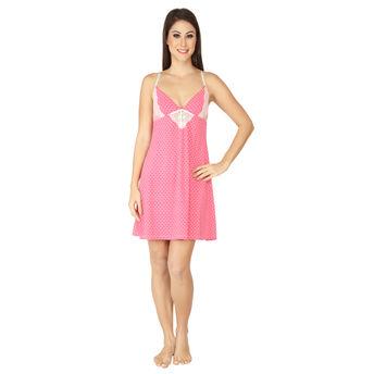 a31173ea8 S.O.I.E Sexy Baby Doll Nighty - Pink at Nykaa.com
