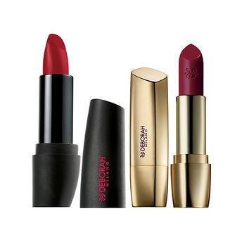 Deborah Atomic Red Mat Lipstick 24 Hot Red Milano Red Lipstick