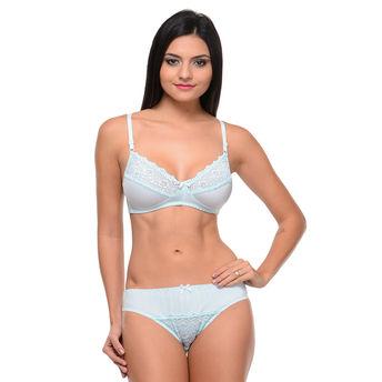 ecf5b4eaa2b Bodycare Bridal Bra & Panty Set In Nylon Elastane - Green online ...