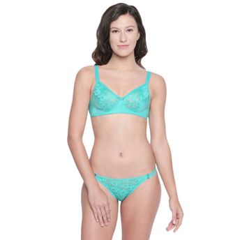 f38158d6bc Bodycare Bridal Sea Green Bra & Panty Lingerie Set at Nykaa.com