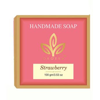 Orgera Sulfate Free Glycerin Sugar Handmade Soap Strawberry(100gm)
