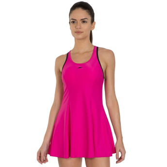 bf7b5d3c64a Speedo Female Swimwear Racerback Swimdress With Boyleg - Pink at ...