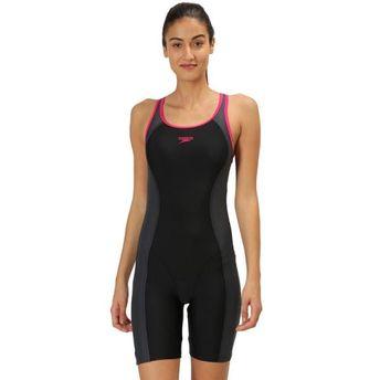 3e1595321e3 Speedo Female Swimwear Essential Splice Muscleback Legsuit - Black ...
