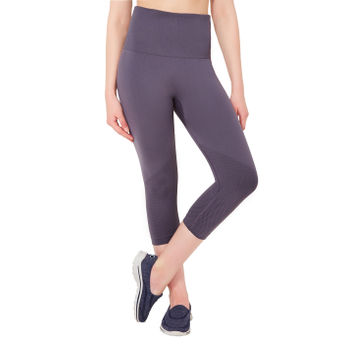 71a97b8307514 Amante Grey Seamless Fitness Capri Pants at Nykaa.Com