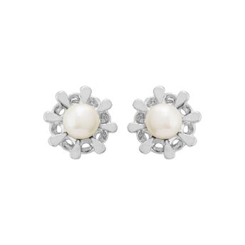 ed44f00e3 Voylla Pearl Adorned Stud Earrings With Floral Motif at Nykaa.com